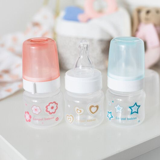Canpol babies Пляшечка антиколікова 60 мл PP Newborn baby - блакитна - 3