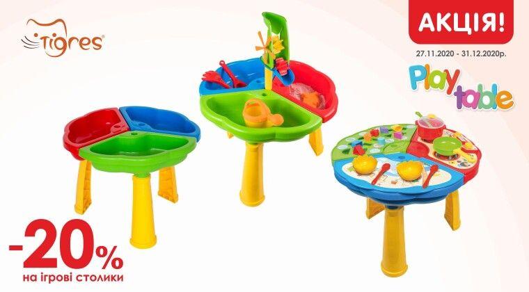 Акція - Акція на розвиваючі столики для дітей!