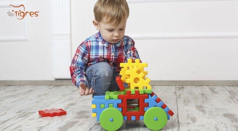 Фото - Выбирает конструктор в интернет-магазине игрушек Тигрес